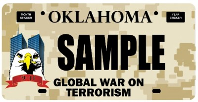 Oklahoma GWOT Plate